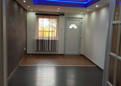 lakásfelújítás esti led lámpa fény