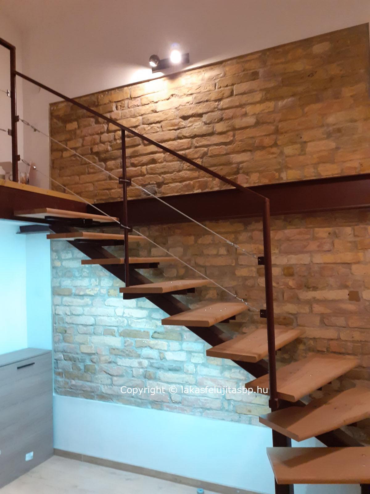 lakásfelújítás Budapest, galéria építés