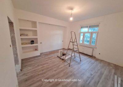 Lakásfelújítás nappali